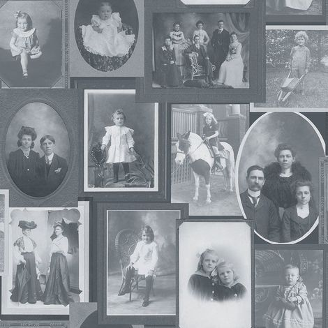Vintage Photo Frames Wallpaper Picture Black White Retro Feature Paste The Wall
