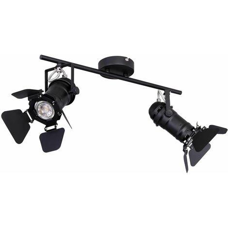 VINTAGE plafón living comedor lámpara spot REMOTE CONTROL en un conjunto con iluminación LED RGB