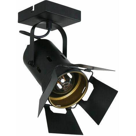 VINTAGE plafón plafón estudio spotlight lámpara negro dorado punto ajustable Steinhauer 7996ZW