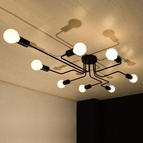 Salon Vintage Industriel 8 Rétro Creative Lampe Socket Pour Avec Plafonnier Salle E27 Bar Cafétéria Plafond Pendentif À Manger USVpzM