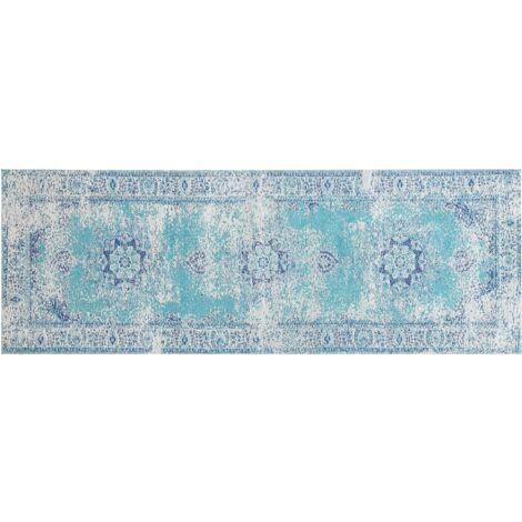 Vintage Runner Rug 60 x 180 cm Blue ALMUS