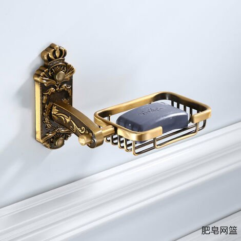 """main image of """"Vintage Style Wall Mounted Bath Shower Soap Holder Bathroom Accessories Soap Basket Antique"""""""