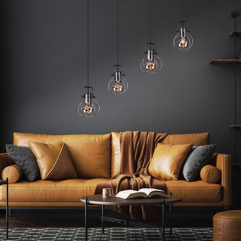 VINTAGE suspension plafonnier cage poutres en bois suspendus filament de lampe dans un ensemble incl