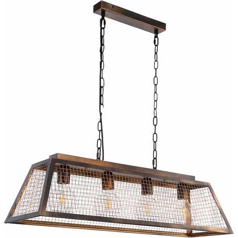 VINTAGE suspension plafonnier filament poutres salle à manger treillis lampe suspendue cuivre dans un ensemble avec lampe LED
