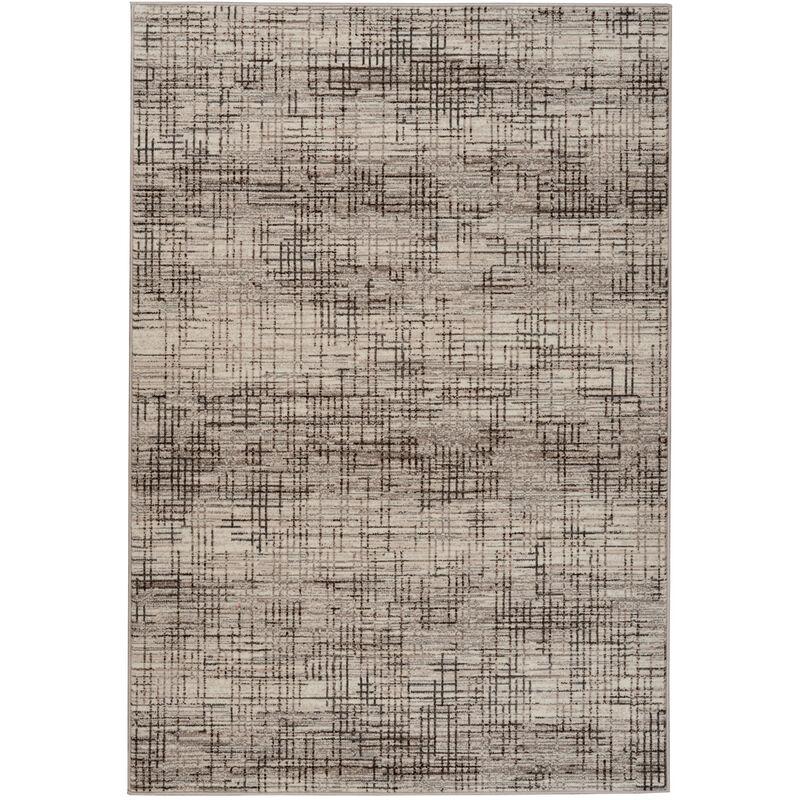 Vintage Teppich Kariert Used Look Modern Wohnzimmer Beige ...