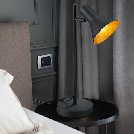 Vintage Tisch Lampe gold beweglich Wohn Zimmer Lese Beleuchtung im Set inkl. LED Leuchtmittel