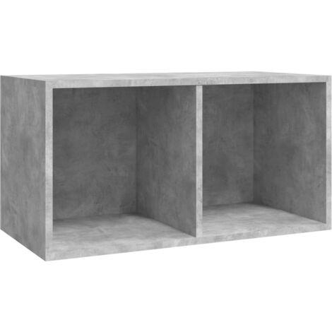 Vinyl Storage Box Concrete Grey 71x34x36 cm Chipboard
