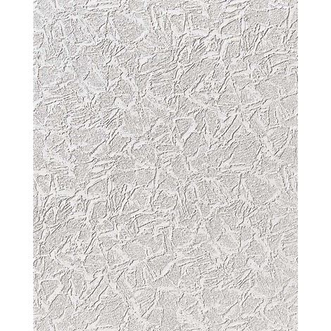 Vinyl wallpaper wall EDEM 238-50 textured 15 Meter metallic white silver glitter 7.95 sqm (85 sq ft)