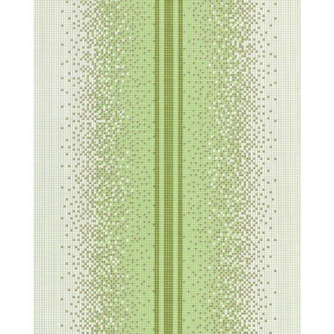 Vinyl wallpaper wall mosaic EDEM 1023-15 tile stone stripe decor washable textured white green olive gold