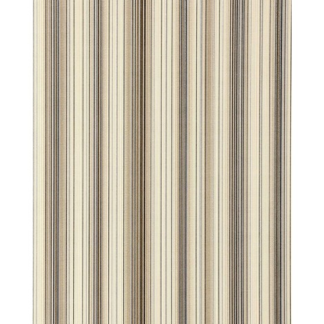 Vinyl wallpaper wall stripes EDEM 097-23 sumptuous stripes modern and noble brown beige silver black 5.33 sqm (57 sq ft)