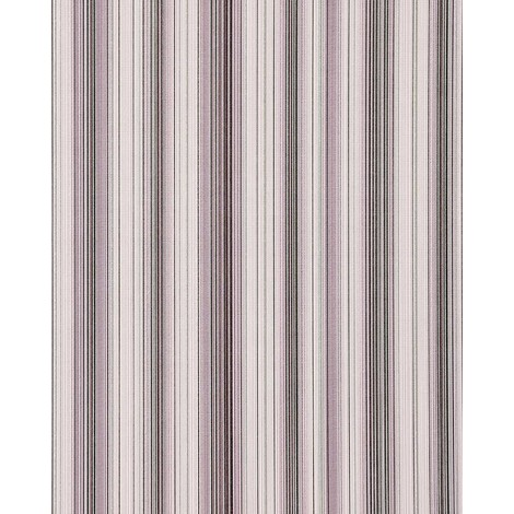 Vinyl wallpaper wall stripes EDEM 097-24 sumptuous stripes modern and noble lilac white silver black 5.33 sqm (57 sq ft)