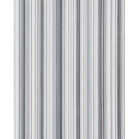 Vinyl wallpaper wall stripes EDEM 097-26 sumptuous stripes modern and noble light blue white silver black 5.33 sqm (57 sq ft)