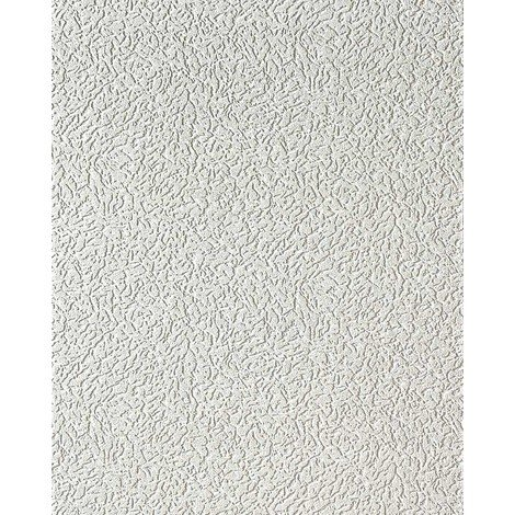 Vinyl wallpaper wall white EDEM 202-40 15 meter deco textured stucco plaster blown 7.95 sqm (85 sq ft)