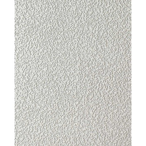 Vinyl wallpaper wall white EDEM 204-40 15 meter deco textured stucco plastering blown 7.95 sqm (85 sq ft)