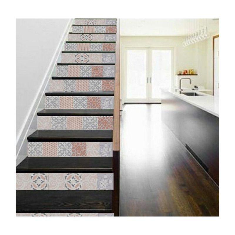 Vinyle pour cr dence de cuisine adh sif contre marche d 39 escalier et pour rev tement mural - Revetement adhesif pour meuble de cuisine ...