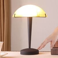 Viola - lampada da tavolo ruggine, vetro ambrato