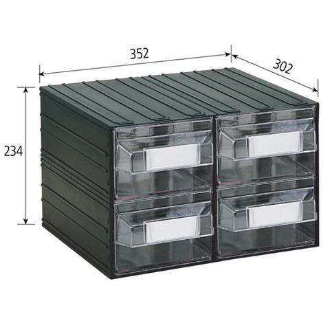 Cassetti Plastica Componibili.Vipa Cassettiera Componibile Puma 207 T 4 Cassetti Mm 352x302x234 H