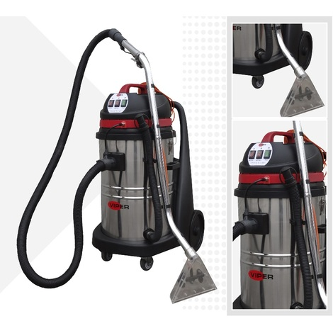 Viper Cleaning - Injecteur extracteur 75L (Nettoyeur de moquette professionnel) 2000w - Car 275