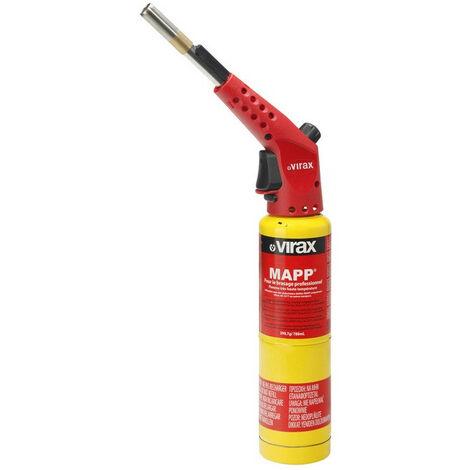 Virax - Chalumeau à gaz MAPP Pro brasage en coffret avec 2 cartouches de gaz 2 x 399,7g - 788ml