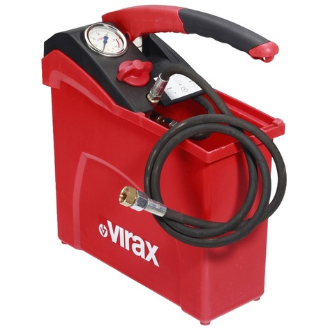 Virax - Pompe d'épreuve manuelle grand volume 50 bar réservoir 10 L