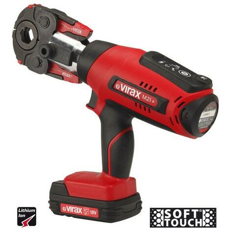 Virax - Presse à sertir électro-mécanique 18V 1,5Ah Viper® M21+ Adaptateur filaire 230V sans pince-mère