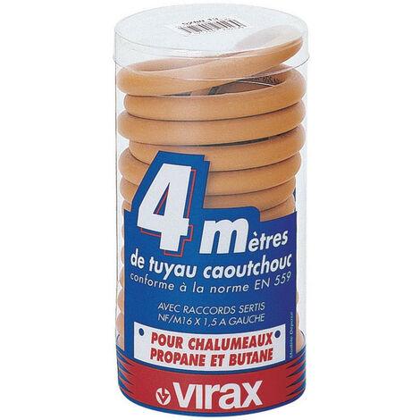 Virax - Tuyau caoutchouc propane/butane 4 m en boîte PVC
