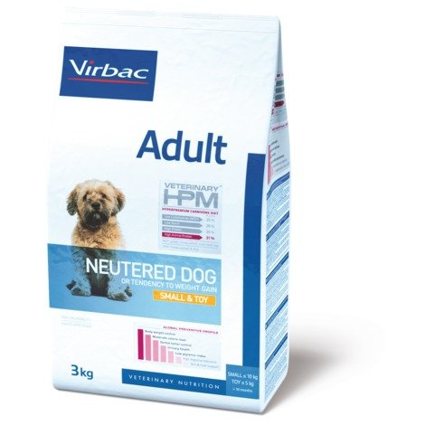 Virbac Veterinary HPM Adult Neutered Small et Toy 7Kg