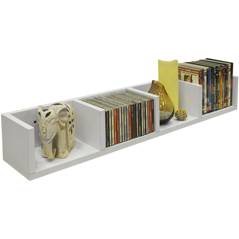 VIRGO - 84 CD / 56 DVD / Blu-ray / Media Wall Storage Shelf - White