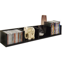 VIRGO - Gloss 84 CD / 56 DVD / Blu-ray / Media Wall Storage Shelf - Black