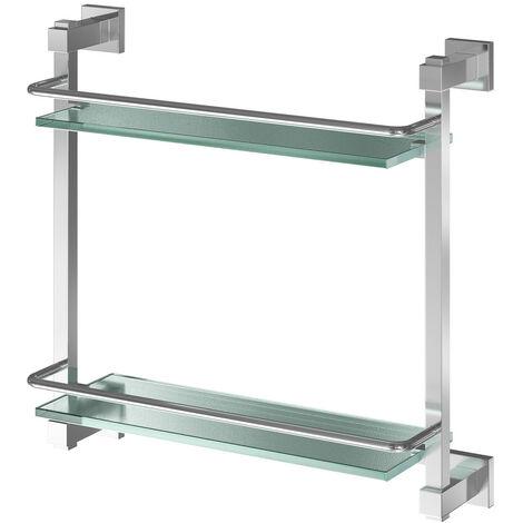 Virgo Wall Mounted Double Glass Shelf