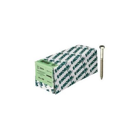 Vis a bois DIN 571acier inoxydable A2 8x120 HP E-NORMpro (Par 100)