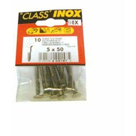 VIS A BOIS TF INOX A4 4X30 SC CP:3 (Vendu par 1)