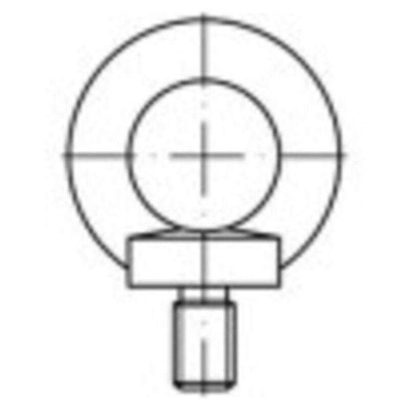 Vis à œillet 109362 10 pc(s) M14 acier N/A - Toolcraft