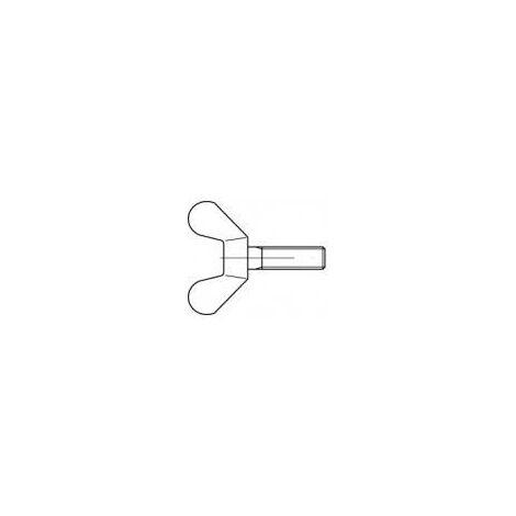 Vis à oreilles TOOLCRAFT 1060604 10 pc(s) M8 30 mm tête à ailettes acier inoxydable N/A V878711