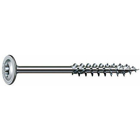 Vis à tête disque Wirox filetage partiel torx zingué blanc grande longueur, Ø 8 mm, longueur 200 mm, boîte de 50