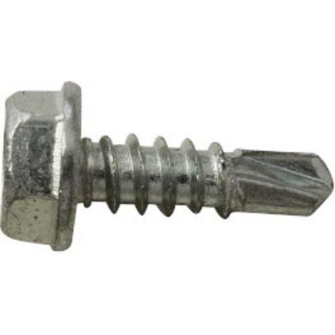Vis autoforeuses 3.5 mm x 19 mm 6 pans extérieurs TOOLCRAFT 828018 DIN 7504 acier galvanisé 100 pc(s)