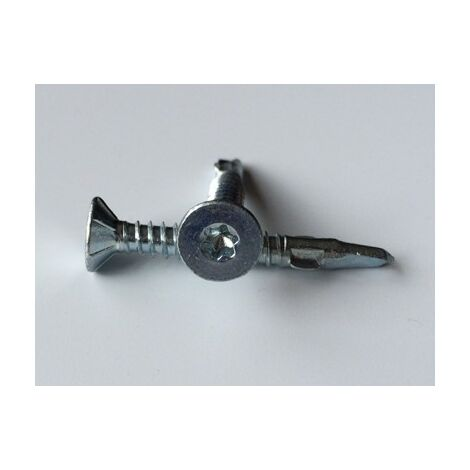 VIS AUTOPERCEUSE TETE FRAISEE TF CRANTE TORX T25 5.5X50 BIMETAL ACIER / INOX A2