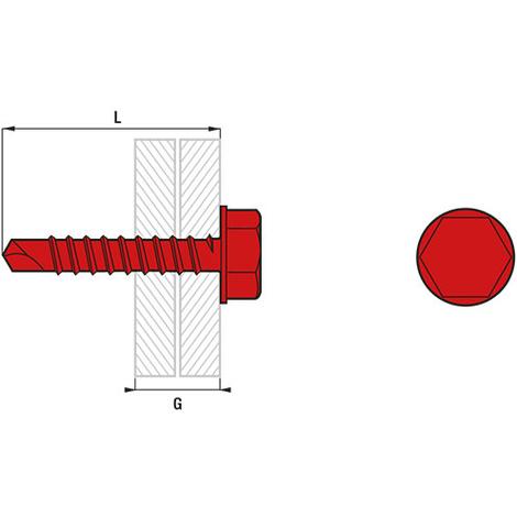 Vis autoperceuse tête hexagonale à embase acier zingué (boîte) - plusieurs modèles disponibles