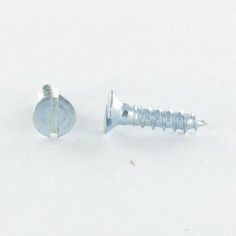 VIS BOIS TETE FRAISEE TF FENDUE 6X80 ACIER ZING BLANC   Conditionnement: 100 pieces