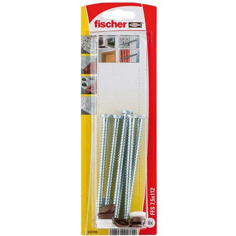 Vis de fixation Fischer 'FFSZ' 7,5 x 112 mm - 6pcs