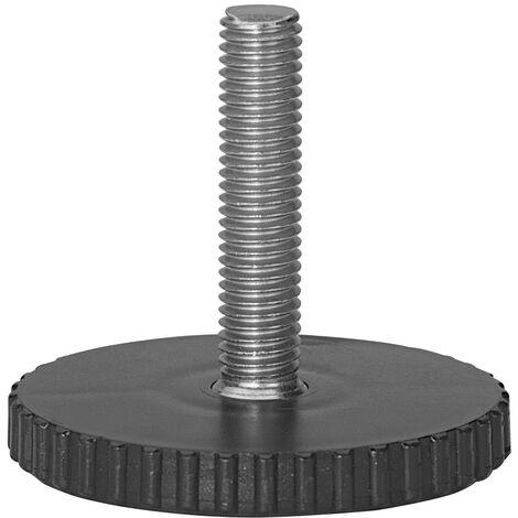 Vis de réglage acier, Diam.60 x H.50 mm