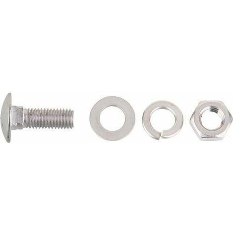 Vis de verrou inox M10x30mm avec rondelle, écrou *BG* et rondelle ressort