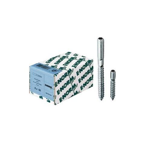 Vis double filetage galva ISR 15 M6x80 HP E-NORMpro (Par 100)