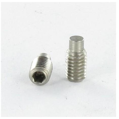 VIS METAUX INOX A2 SANS TETE SIX PANS CREUX (STHC) 6X10 CLE DE 3 BOUT TETON (Unitaire)