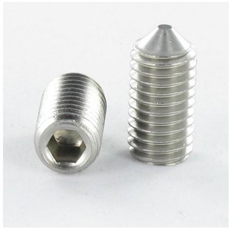 VIS METAUX INOX A2 SANS TETE SIX PANS CREUX (STHC) CLE DE 1.5 3X8 BOUT POINTEAU (Unitaire)