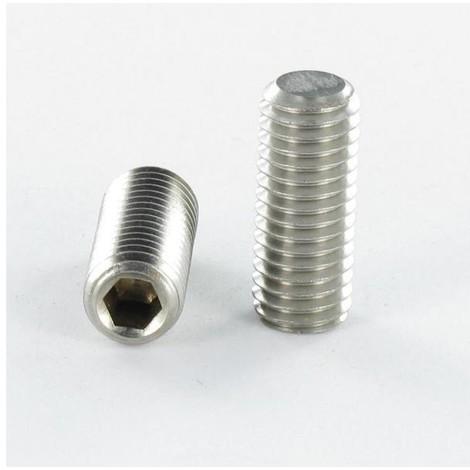 VIS METAUX INOX A2 SANS TETE SIX PANS CREUX (STHC) CLE DE 2 4X10 BOUT PLAT (Unitaire)