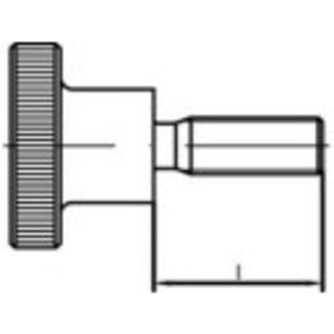 Vis moletée TOOLCRAFT 107488 50 pc(s) M4 8 mm tête moletée acier N/A