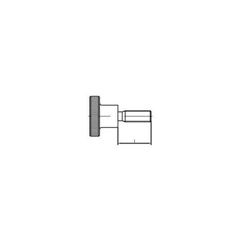 Vis moletée TOOLCRAFT 107490 50 pc(s) M4 12 mm tête moletée acier N/A Q74107