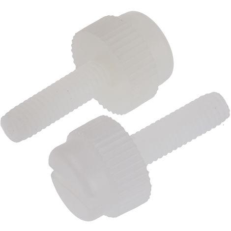 Vis nylon à tête moletée Rond moleté, M3/10mm, Nylon Brut
