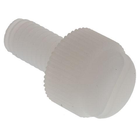 Vis nylon à tête moletée Rond moleté, M5/10mm, Nylon Brut